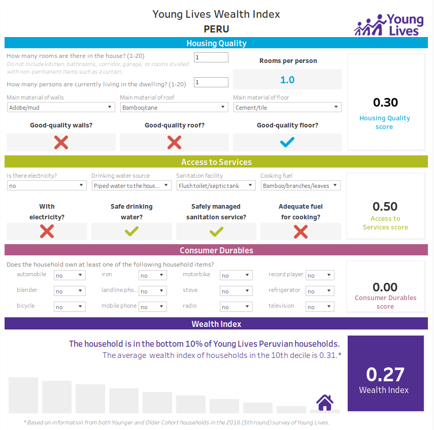 Young Lives Wealth Index Peru