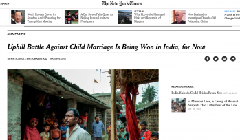 New York Times 6 March 2018 - Child marriage in India