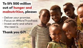 Save the Children G7 poster