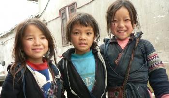 Three children stood together