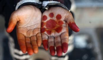 Children hands with art on their hand