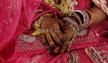 Hands decorated for a wedding