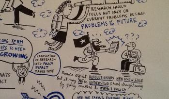 Cartoon representing impactful research