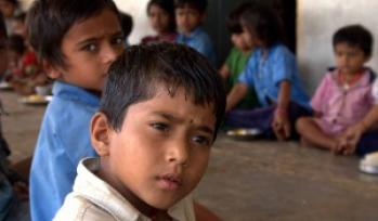 School boys in a classroom