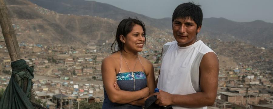 young couple Peru