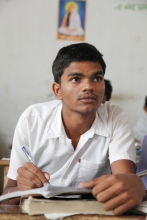 Student in class
