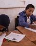 School children working