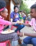 Young people sharing a meal