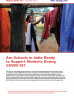 Are Schools in India Ready to Support Students During COVID-19? Cover Image featuring a young Indian woman hanging up clothes to dry.