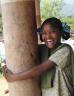 School girl laughing