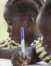 Children doing school work