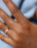 Close-up of a hand with a wedding ring
