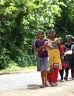 Children walking to school in India