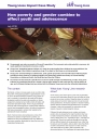 How poverty and gender combine to affect youth and adolescence cover