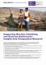 Supporting married, cohabiting and divorced adolescents cover