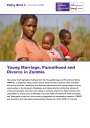 Young marriage, parenthood and divorce in Zambia cover