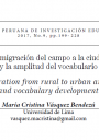 Migration from rural to urban areas and vocabulary development cover