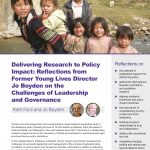 Front cover of Insights Report on Leadership and Management of a longitudinal project